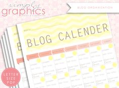Blog Calender : Keeping you organized and on schedule!