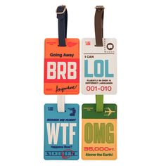Super fun Luggage Tag | travel photo researched by http://www.iconhotel.eu/en/contact/map