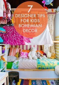 7 Designer Tips for Kids Bohemian Decor /