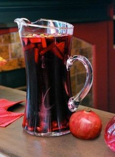 Photo - Pomegranate Sangria - 20 creepy but yummy Halloween drinks for all ages - Evansville Party Planning Examiner   Examiner.com