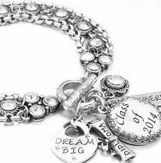 Graduation Charm Bracelet, Calendar Jewelry, Graduation Gift, save the date jewelry - Blackberry Designs Jewelry