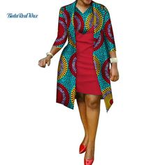 African cotton wax Print Dress and Suit Coat for Women - African Fashion Dresses Short African Dresses, African Fashion Designers, Latest African Fashion Dresses, African Print Dresses, African Print Fashion, African Women Fashion, African Dress Styles, Africa Fashion, African Prints