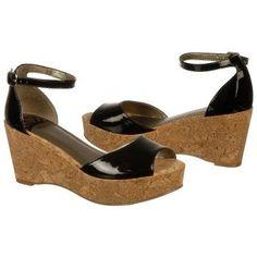 $54.99 FERGALICIOUS Flutter Sandals Black Patent Women`s Sandals class