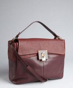 Ashlees Loves: love LANVIN info @ashleesloves.com #Lanvin #Purple #Mauve #ColorBlocked #Leather #FlipLock #Convertible #tote #designer #handbag #fashion #style #love