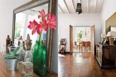 Para los pisos del living se eligió la alternativa económica del fenólico en lugar del parquet.
