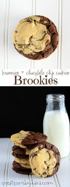 Brookies- a combination of two favorites, brownies and chocolate chip cookies, all rolled into one!