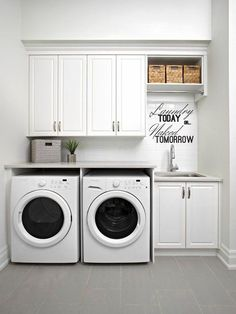 Small laundry room design ideas will certainly assist you to take pleasure in the location around your washer and also clothes dryer. Locate the best ideas for 2018 as well as transform your laundry room design Laundry Storage, Room Makeover, Room Design, Laundry Mud Room, Small Room Design, Laundry Room Inspiration, Room Remodeling, Room Storage Diy, Basement Laundry