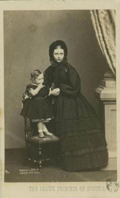 Victoria Adelaide with her son Wilhelm
