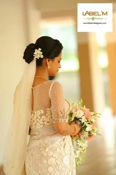 Christian Wedding Hairstyles For Saree - Based on your venue deal, there could be a few limitations with regards to the sort of decor it is possible to generate White Saree Wedding, Kerala Wedding Saree, Kerala Bride, White Bridal, Bridal Sarees, Christian Wedding Dress, Christian Bridal Saree, Christian Bride, Christian Weddings