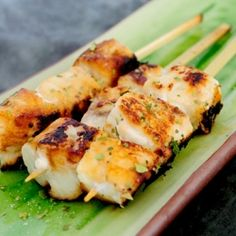 Citrus Fish Kabobs   Asian-Fusion.com. Super easy fish recipe with bright, tangy flavors. Great as an #appetizer or main dish.