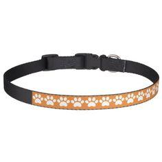 Paw Print Pet Collar - dog puppy dogs doggy pup hound love pet best friend