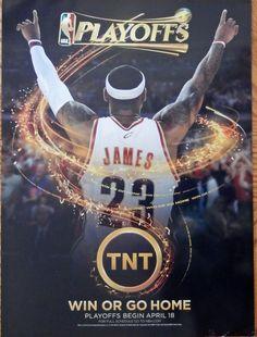 NBA Playoffs  print ad   color illustration  2010 TNT  win or go home  original magazine art