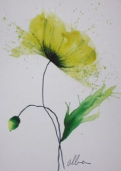 watercolor flower.