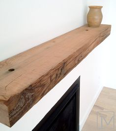 Reclaimed Wood Mantel Love These