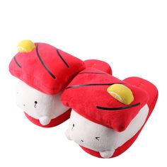 Real sushi isn't the most snuggly thing in the world no matter how much we might love it. These Yummy Sushi Slippers solve that problem! A real treat for anyone who likes soft things and cute food.