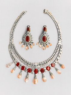 The ruby and diamond necklace created by Van Cleef & Arpels in 1952 for the Maharani of Baroda. It would go on to be sold at auction in Monte Carlo in 1974.