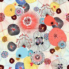 Papier peint seamless avec un flamant rose flamant - Tapisserie flamant rose ...