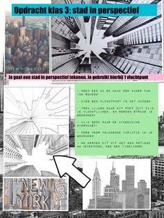 Opdracht stad in perspectief, klas 3