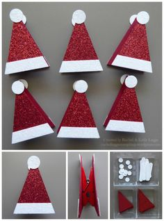 Simple Santa's Hat Treat Toppers