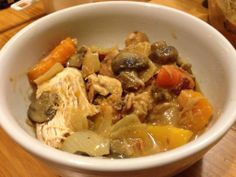 Hearty and Delicious Dijon Bacon Chicken Stew Recipe | Guess Who's Cooking | healthy, low carb, gluten free, dairy free, natural, organic, clean eating. Make on stove or in crockpot. Follow on Twitter: @guesswhoscooking