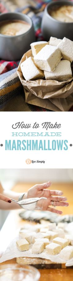 How to make delicious, homemade, fluffy marshmallows. Sweetened with maple syrup.