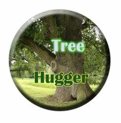 Tree Hugger button #zibbet $2.50