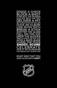 Don't get me started on this.. Hockey is the hardest sport!!!