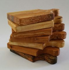 Spalted alder garlic board chopping board mini by CottageCoppicing