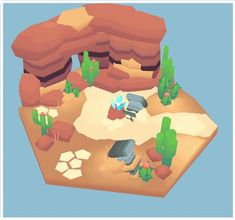 Image result for desert  low poly