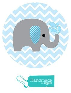 Baby Boy Elephant Stickers in Blue and Chevron- Label Party Favors for Baby Boy Shower or Birthday - Set of 50 Baby Shower Niño, Baby Shower Cakes, Baby Shower Themes, Imprimibles Baby Shower, Baby Shower Invitaciones, Elephant Baby Showers, Elephant Nursery, Baby Elefante, Chevron Azul