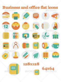 Modernclean business card print icons and icon files business and office flat icons reheart Choice Image