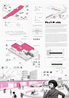 Amsterdam children's playschool, Caraíba – Beta Architecture Concept Board Architecture, Architecture Presentation Board, Architecture Panel, Architecture Graphics, Architecture Design, Stadium Architecture, Architecture Sketchbook, Victorian Architecture, Architecture Student