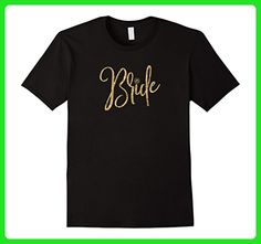 Mens Bride T Shirt - Women's Wedding Bachelorette Party Large Black - Wedding shirts (*Amazon Partner-Link)