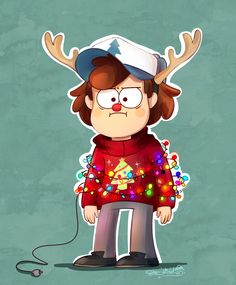 Christmas Dipper is not amused. by CherryVioletS.deviantart.com on @deviantART