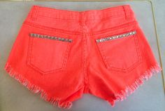 REVERSE STUD SHORTS NEON ORANGE $68- CALL SPLASH TO ORDER 314-721-6442