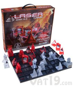 """Khet Laser Game 2.0: Toy of the Year Finalist. As the store so eloquently puts it, """"like chess, but with FRICKEN LASERS!"""""""