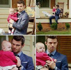 The Originals – TV Série - Elijah Mikaelson (Daniel Gillies) - baby Hope Mikaelson - uncle (tio) - Elijah and Hope