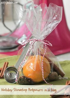 How To Make Holiday Stovetop Potpourri.  Great for Gift Giving too!
