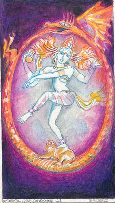 Rohit Arya_ Sacred India Tarot the World Cards The World Tarot Card, Cosmic Egg, Dancing Figures, Shiva Lord Wallpapers, Cathedral Architecture, Nataraja, Occult Art, Major Arcana, Lord Shiva