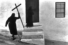 Holy Week, 1977 by Josef Koudelka Photography Lessons, Street Photography, Sign Of The Cross, Religion, First Photograph, French Photographers, Magnum Photos, Documentary Photography, Elliott Erwitt