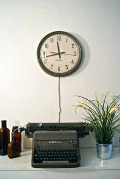 Vintage Industrial Seth Thomas Wall Clock by TheArticle on Etsy, $80.00<--@amycrowder i *think* mine was a good deal!