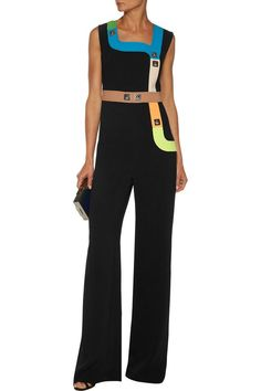 0334bf8dd1e3 Track embellished stretch-cady jumpsuit