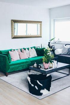 Im Interior Blog Stelle Ich Euch Heute Unsere Neue Wohnzimmer Einrichtung In Grn Grau