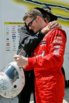 dale earnhardt jr 2007 | AP Photo/Gerry Broome Richard Petty and Dale Earnhardt Jr. share a ...