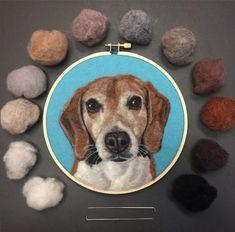 Bordados por Dani Ives (Blog Be Good Natured) feitos de feltro de lã;