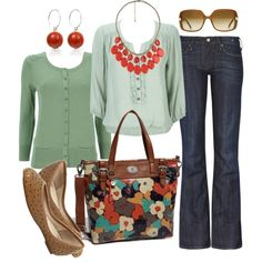 mint & red