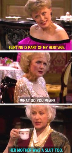 Golden Girls.  One of the funniest shows of all time. I still laugh at the re-runs of episodes I've seen several times over the years