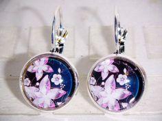 Ohrringe - Ohrringe Blume handgemacht Damen Ohrschmuck Glas - ein Designerstück von ausgefallene-Ohrringe bei DaWanda