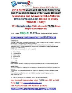 [June-2018-Version]Braindump2go 70-778 VCE Dumps 60Q Free Share(24-30) Question And Answer, This Or That Questions, Cloud Data, Data Science, Machine Learning, Pdf, News, Free, Microsoft
