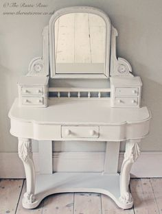 Beautiful antique shabby chic dressing table...
